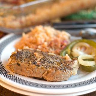 One-Dish Pork Chops and Rice Recipe