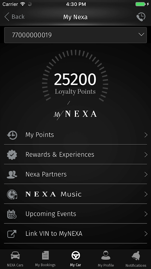 NEXA- screenshot