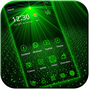 App Laser light green tech Theme APK for Windows Phone