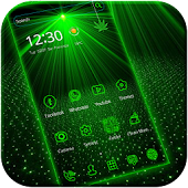 Laser light green tech Theme