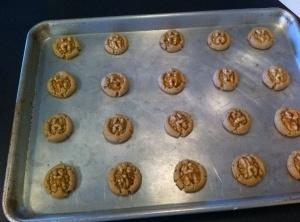 Bake cookies until brown  around edges about 15 to 20 minutes. Cool on...