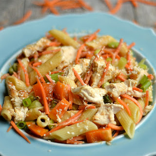 Thai Peanut Chicken Pasta Salad.