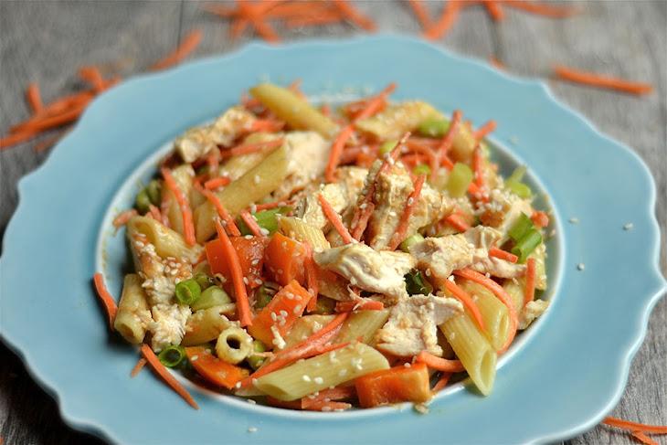 Thai Peanut Chicken Pasta Salad Recipe