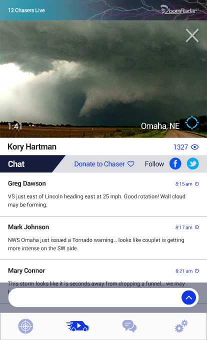 Zoom Radar Storm Chasers- screenshot
