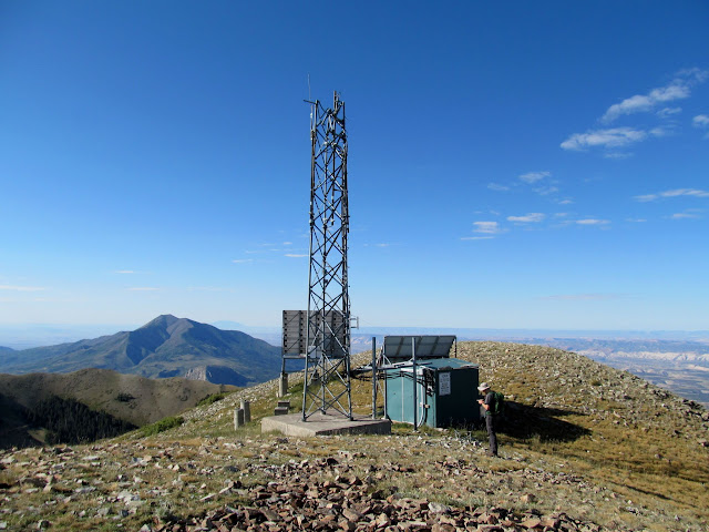 Radio tower on South Summit Ridge