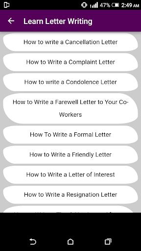 Learn English Letter Writing with 2000+ Examples ! 1.0 screenshots 5