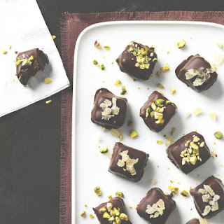Date Caramels with Crunchy Chocolate Coating.