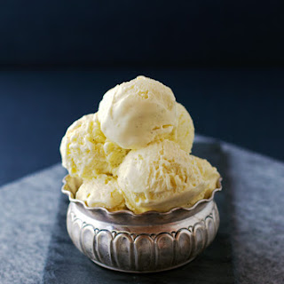 Homemade Vanilla Ice Cream.