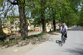 Photo: Op de vestingswal van Lucca