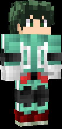 Cute Minecraft Girl Wallpaper Izuku Midoriya Nova Skin