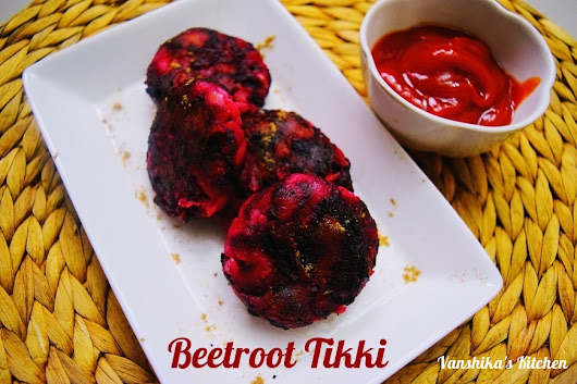 Beetroot Tikki | Beetroot Cutlet (with step by step photos)