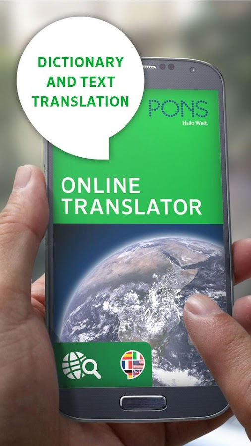 PONS Online Translator- screenshot
