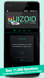 Quizoid Pro: 2019 Trivia Quiz with 5 Game Modes Screenshot