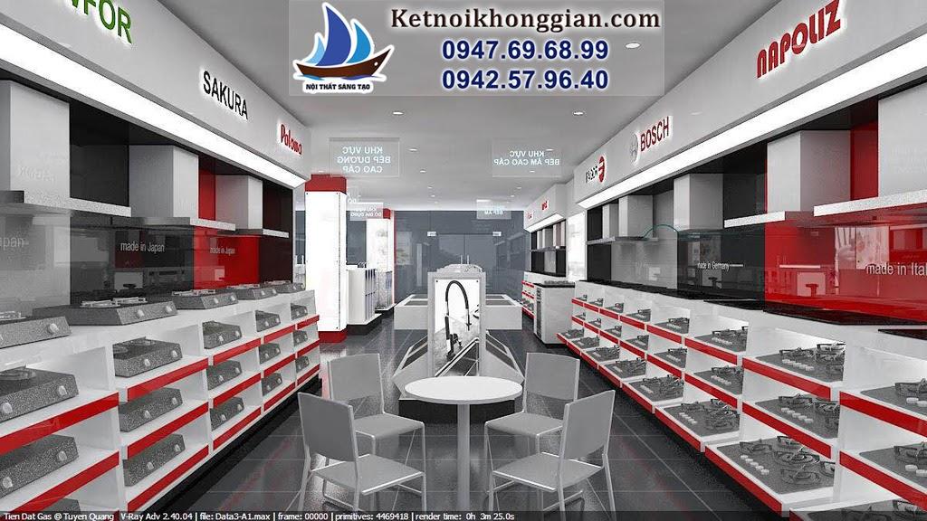 thiết kế showroom gas và bếp gas
