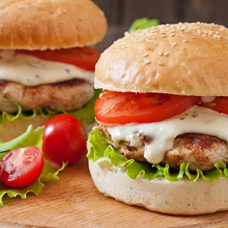 Healthy Ranch Turkey Burgers.