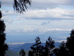 琵琶湖と比良山地
