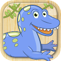 Paint and color dinosaurs game icon