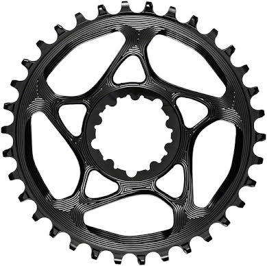 Absolute Black Round Narrow-Wide Direct Mount Chainring - SRAM 3-Bolt Direct Mount, 3mm Offset alternate image 1
