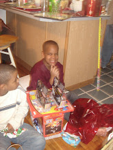 Photo: Q is happy with some of his toys