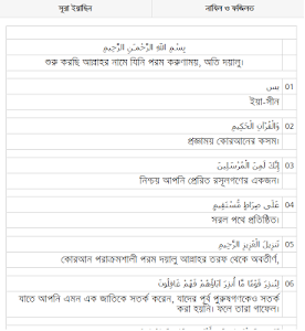 Surah Yasin Bangla screenshot 0