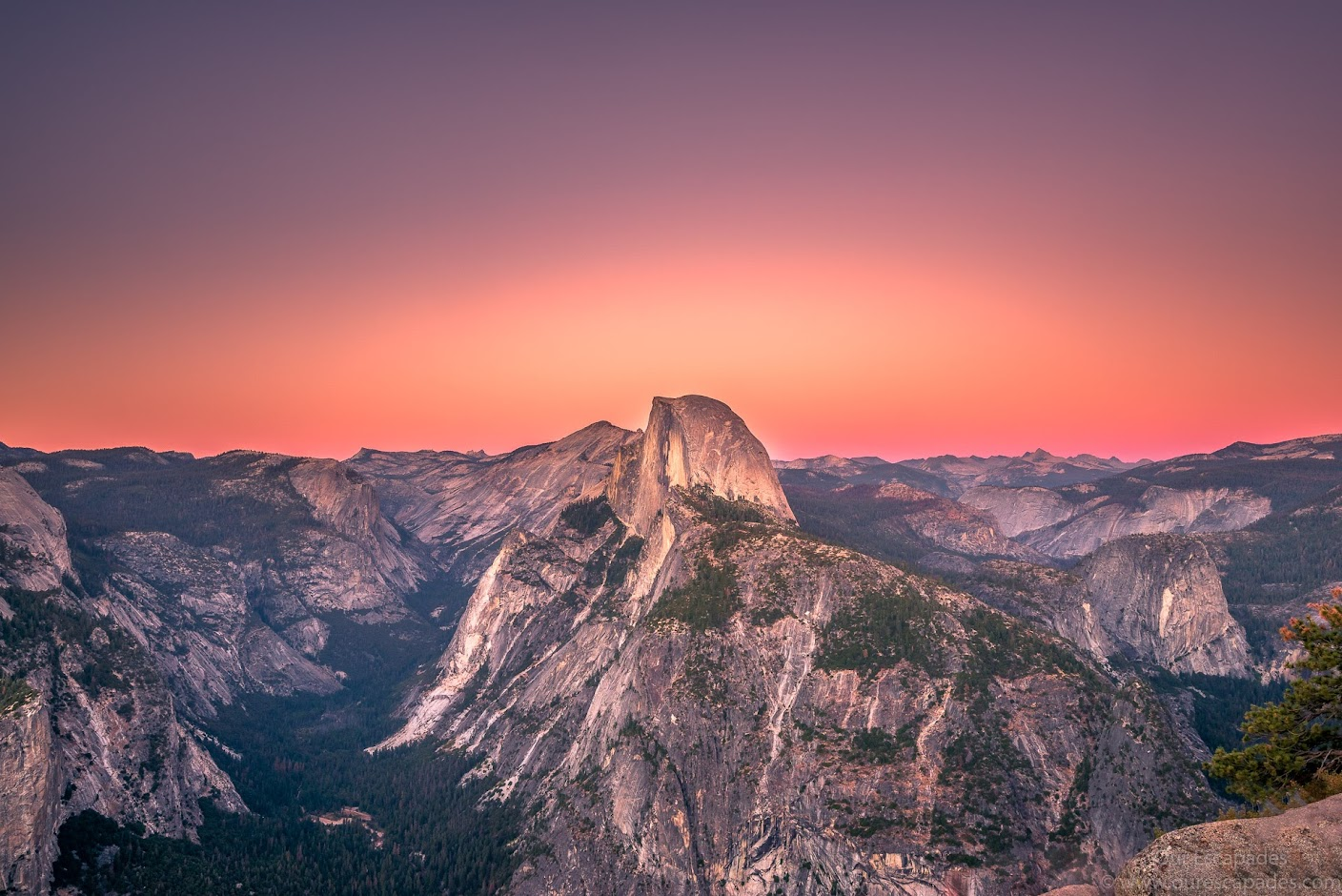 Half Dome Sunset at Glacial Point