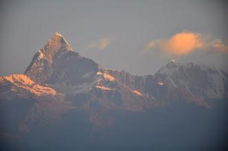 Photo: Lever de soleil sur la chaîne de l'Annapurna (Sarangkot)