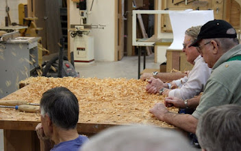 Photo: Like any turner worth his shavings, Stuart likes to have a little fun with the audience.