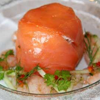 Smoked Mackerel & Smoked Salmon Timbale