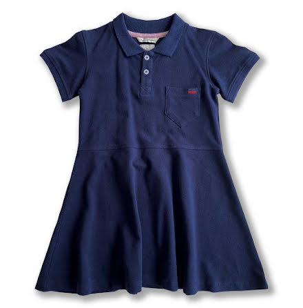 Havanna - Navy blue pique dress for children
