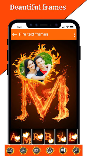 Fire Text Photo Frame u2013 New Fire Photo Editor 2020 1.33 screenshots 6