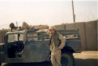 Photo: Chris Mitrevski in Iraq