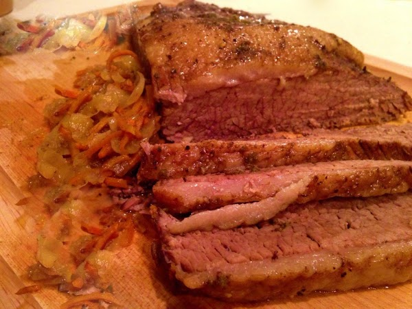 Brisket In The Slow Cooker With Onions Recipe