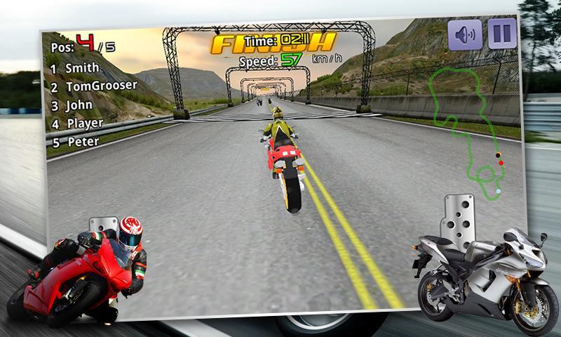 Скриншот Экстремальные велосипед гонки