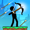 The Archers 2: Stickman Games for 2 Players or 1 icon