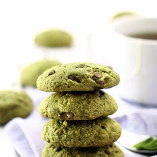 Matcha Green Tea Chocolate Chip Cookies.