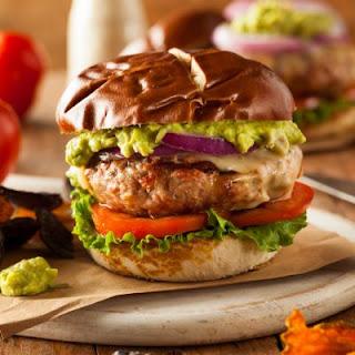 20-Minute Spicy Guacamole Burger