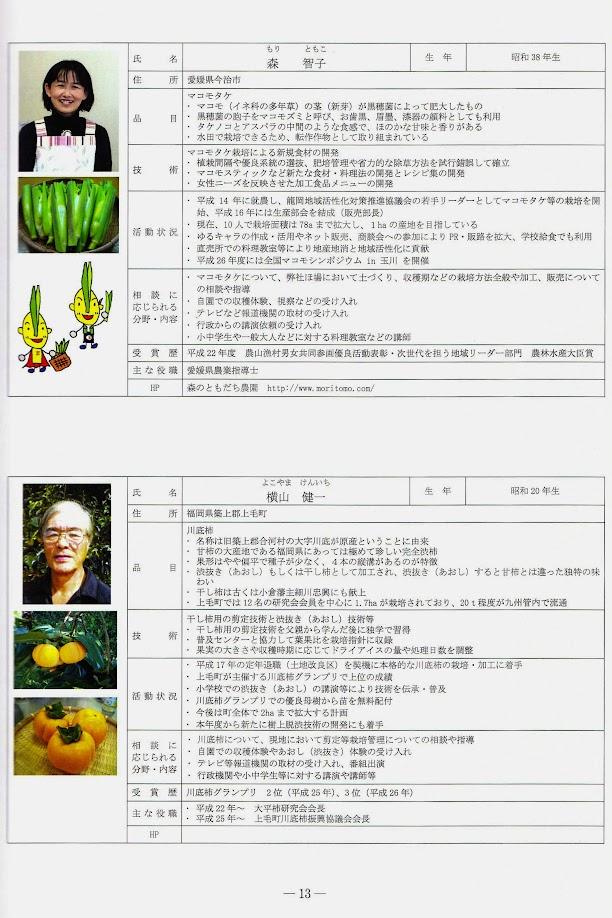 上:森智子さん 下:横山健一さん