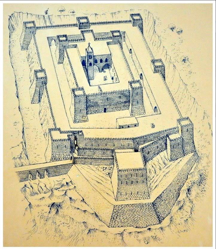 План крепости крестоносцев Бельвуар. Экскурсии в Израиле.