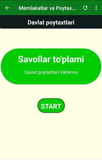 Davlat Poytaxtlari - Savollari va Javoblari - 2019 1.0 11