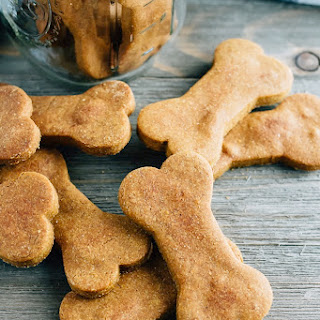 Peanut Butter and Pumpkin Dog Treats.