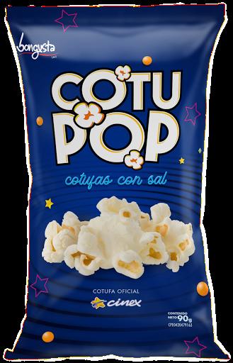 snack cotufa cotu pop con sal 90gr Cotu Pop