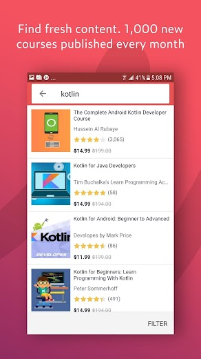Screenshot 3 for Udemy's Android app'