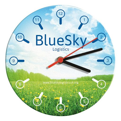 Brite Clock Full Colour Printed