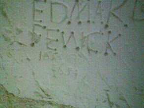 Photo: 330 yrs ago Edward Fenick was scratching his name dyslexically in Louth Church Tower...the oldest readable grafitti I saw on the 200ft climb.