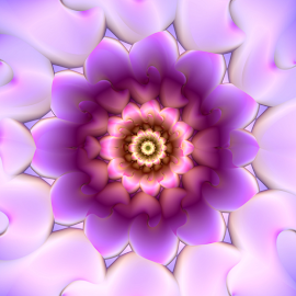 Flower 39 by Cassy 67 - Illustration Abstract & Patterns ( digital, love, harmony, surreal, abstract art, abstract, fractals, digital art, flower, classic, white, modern, light, fractal, purple, geometry, energy )