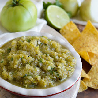 Grilled Green Tomato Salsa Verde.