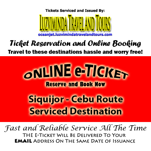 OceanJet Siquijor, Siquijor-Dumaguete-Tagbilaran-Cebu Route Ticket Reservation and Online Booking