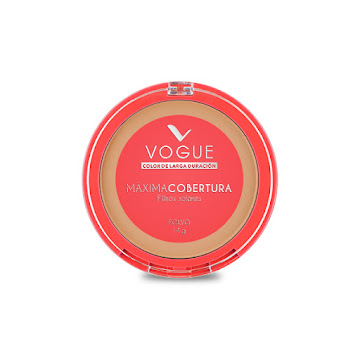 Polvo Compacto Vogue   Máxima Cobertura Filtros Solares Caramelo x 14Gr