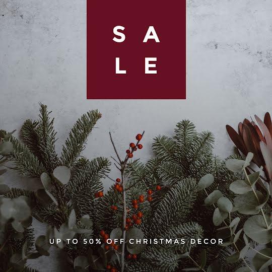 Christmas Decor Sale - Christmas Template