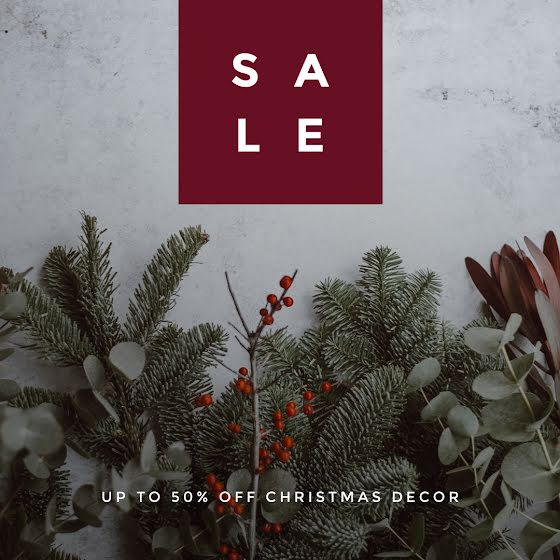 Christmas Decor Sale - Christmas Template